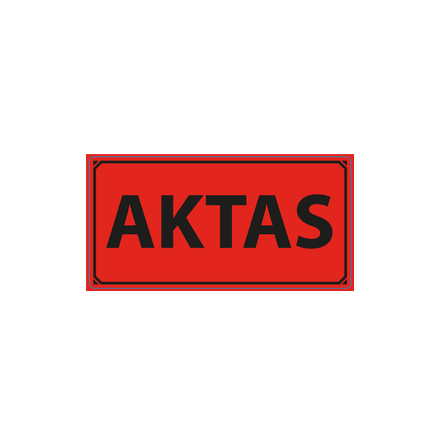 "Varningsetikett ""Aktas"" 50x100mm, 1000st/rulle"